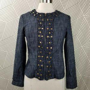 JM Collection Size 4 Petite denim jean jacket